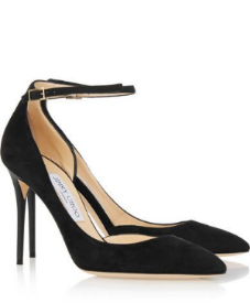 jimmy choo lucy suede pumps, $695