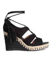 h&m suede sandals, $69.99