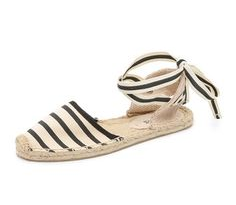 soludos striped sandals, $55