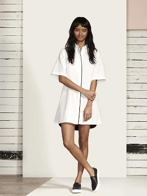 la ligne short line dress, $385
