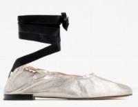 zara leather ballet flats, $69.90
