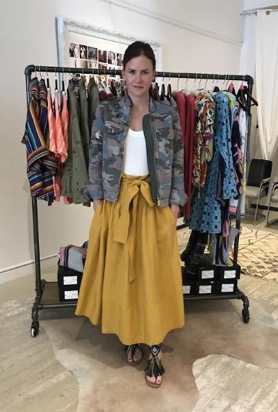 zadig & voltaire jacket, $398, kamperett top, $160, kamperett skirt, $385, meher kakalla sandals, $286