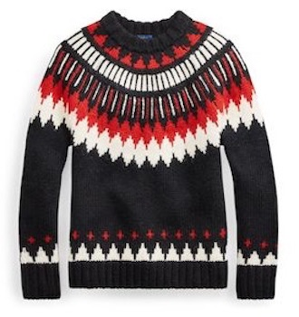 ralph lauren sweater, $180