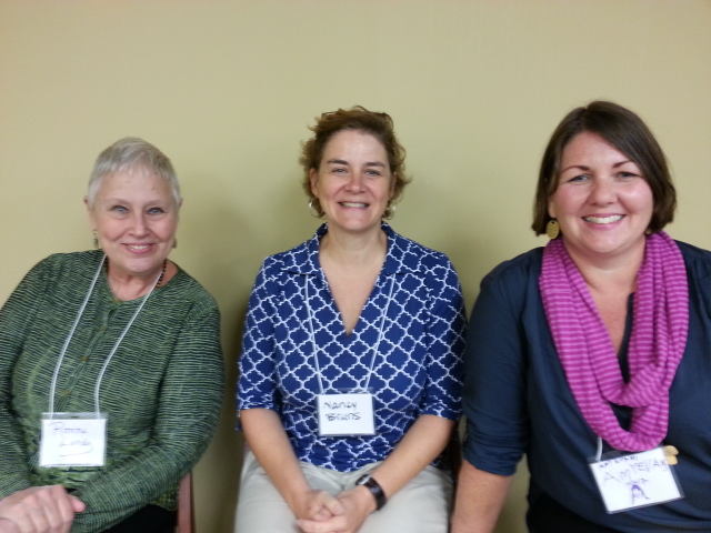 Ronni Lundy, Nancy Bruns of J.Q. Dickinson Salt Works http://www.jqdsalt.com/ & Amy C. Evans at the Appalachian Food Summit in Abingdon, VA. Amy Campbell recorded them and took this photo of these 3 ladies worth their salt for rebroadcast on The Tennessee Farm Table Radio Show.  @JQDsalt