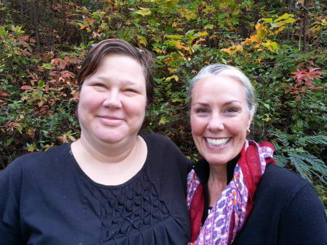 Crystal Wilson of Turtle Mountain Herb Farm in Rockford, TN with Amy.
