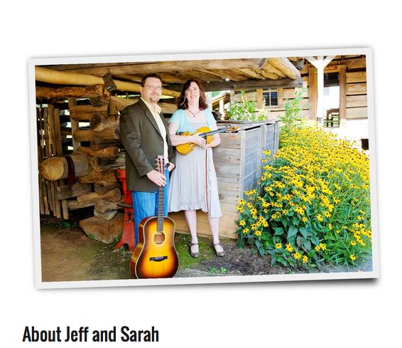 Photo of Jeff Barbara & Sarah Pirkle from their website.