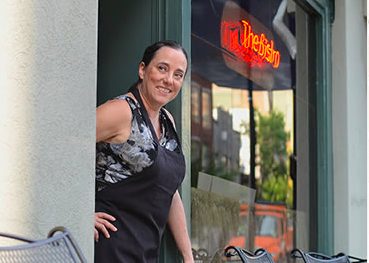 Martha Boggs, owner of The Bistro at The Bijou.  Photograph from her website www.The BistroatThe Bistro.com