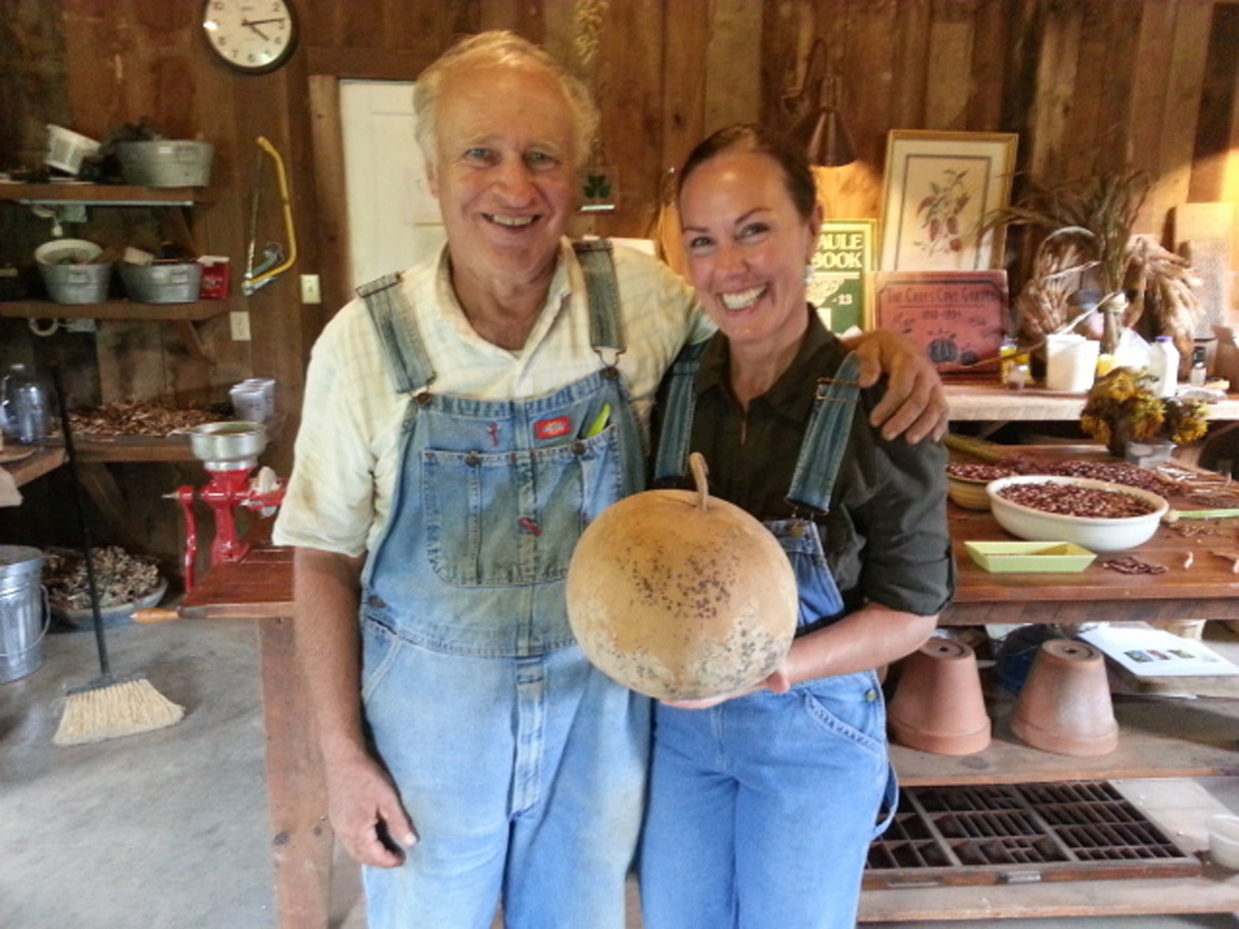 John Coykendall and Amy Campbell pictured in the Garden shed at Black Berry Farm in 2015. They worked together in the garden in 2007.