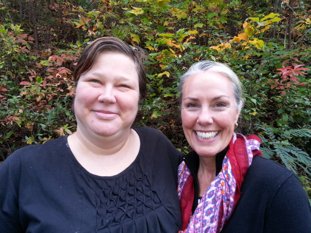 Frequent contributor Crystal Wilson of Turtle Mountain Herb Farm, Rockford, TN with Amy Campbell.