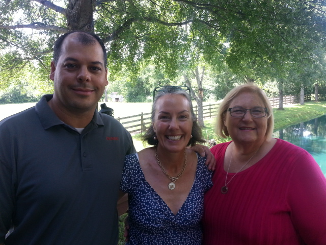 Board members of New Hope Children's Advocacy Center Shane Hair &  Sheri Gardener Howell visit with Amy (middle) to record this show to promote the Bacon & the Bear fundraiser August 6, 2016 at  Dancing Bear Lodge