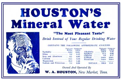 An old original label from Houston Mineral Well.