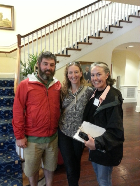 Mike Costello and Amy Dawson, owners of Lost Creek Farm. Pictured here with Amy at the 2016 Appalachian Food Summit, Berea, KY.