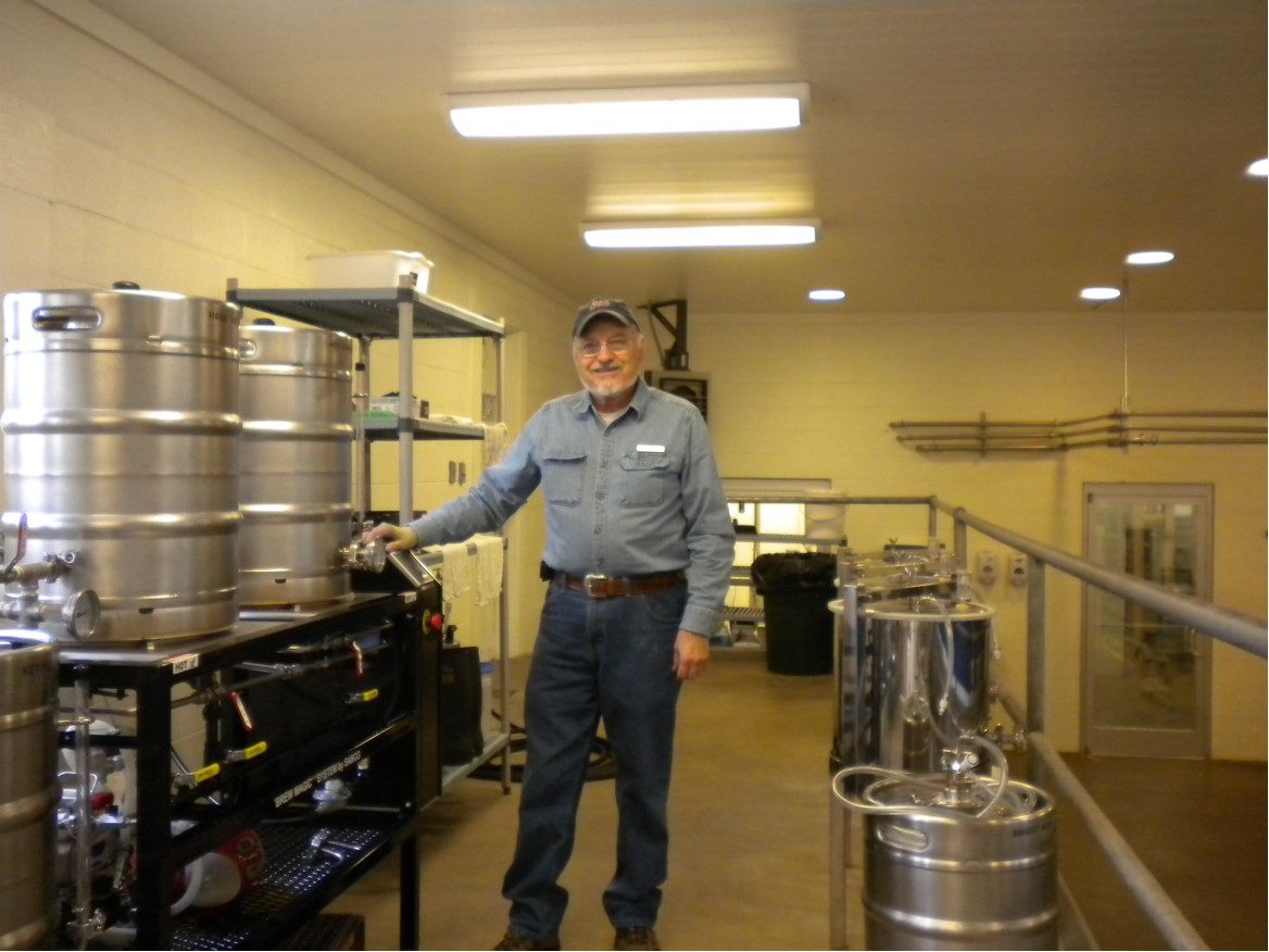 Ron Downer (Photo taken at Black Berry Farm Brewery) where he developed the recipes for many of the beers they produce today.
