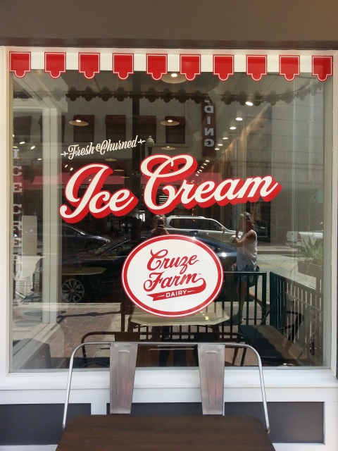 The Cruze Farm Dairy store front at 408 Gay St. Knoxville, Tennessee. http://www.cruzefarm.com/