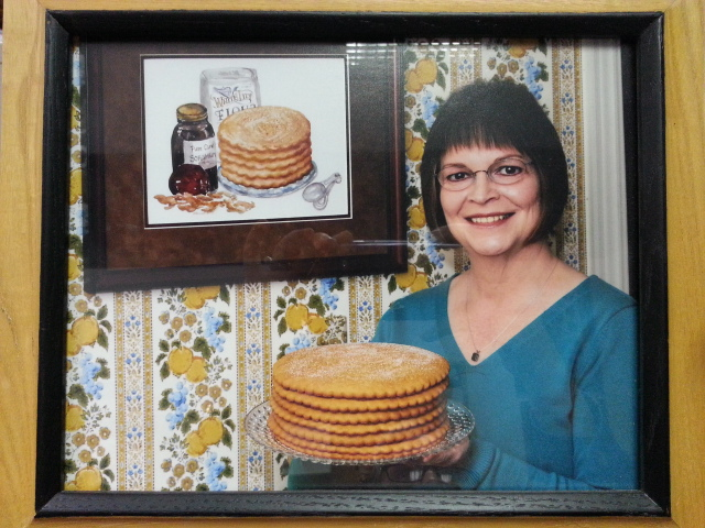 Jill Derting Sauceman with her Grandmother's Apple Stack Cake