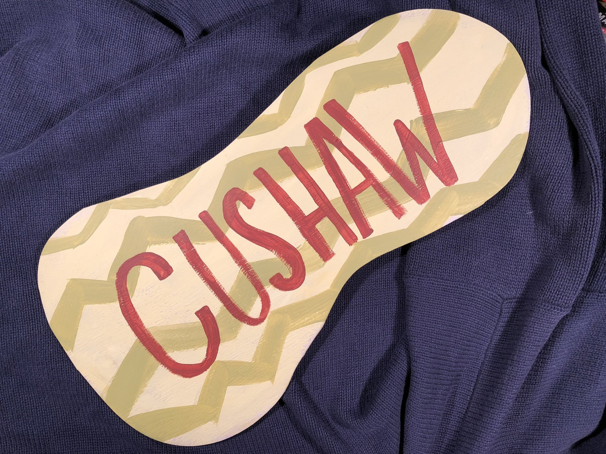 "Painted wood ""Cushaw Art"" by Amy Campbell"