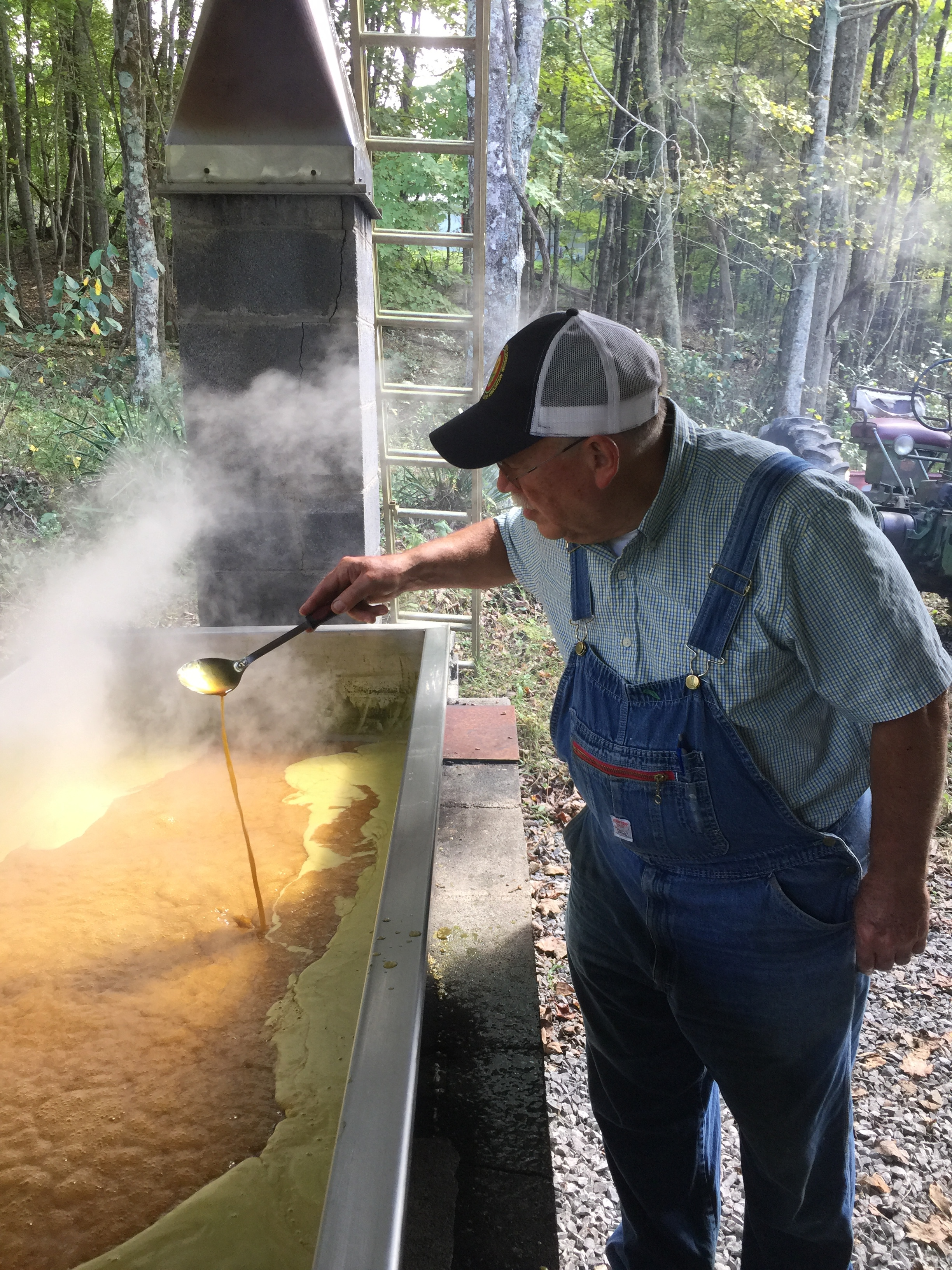 "This is Fred Sauceman's friend Dr. Mike Fleenor, an orthopedic surgeon who grows and makes sorghum and has a ""sorghum boil"" every year in Washington, County, VA."