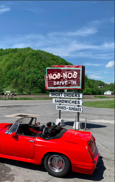 "Here's a photo from Fred Sauceman of The Hob-Nob Drive-In sign, near Gate City, Virginia, it opened in 1952 and The Hob-Nob sign dates to around 1957. This goes along with Fred's ""Pot Luck Radio"" segment included in this episode of The Tennessee Farm Table (we brag on our neighbors as well). Connect with Fred at:  https://www.facebook.com/fred.sauceman"