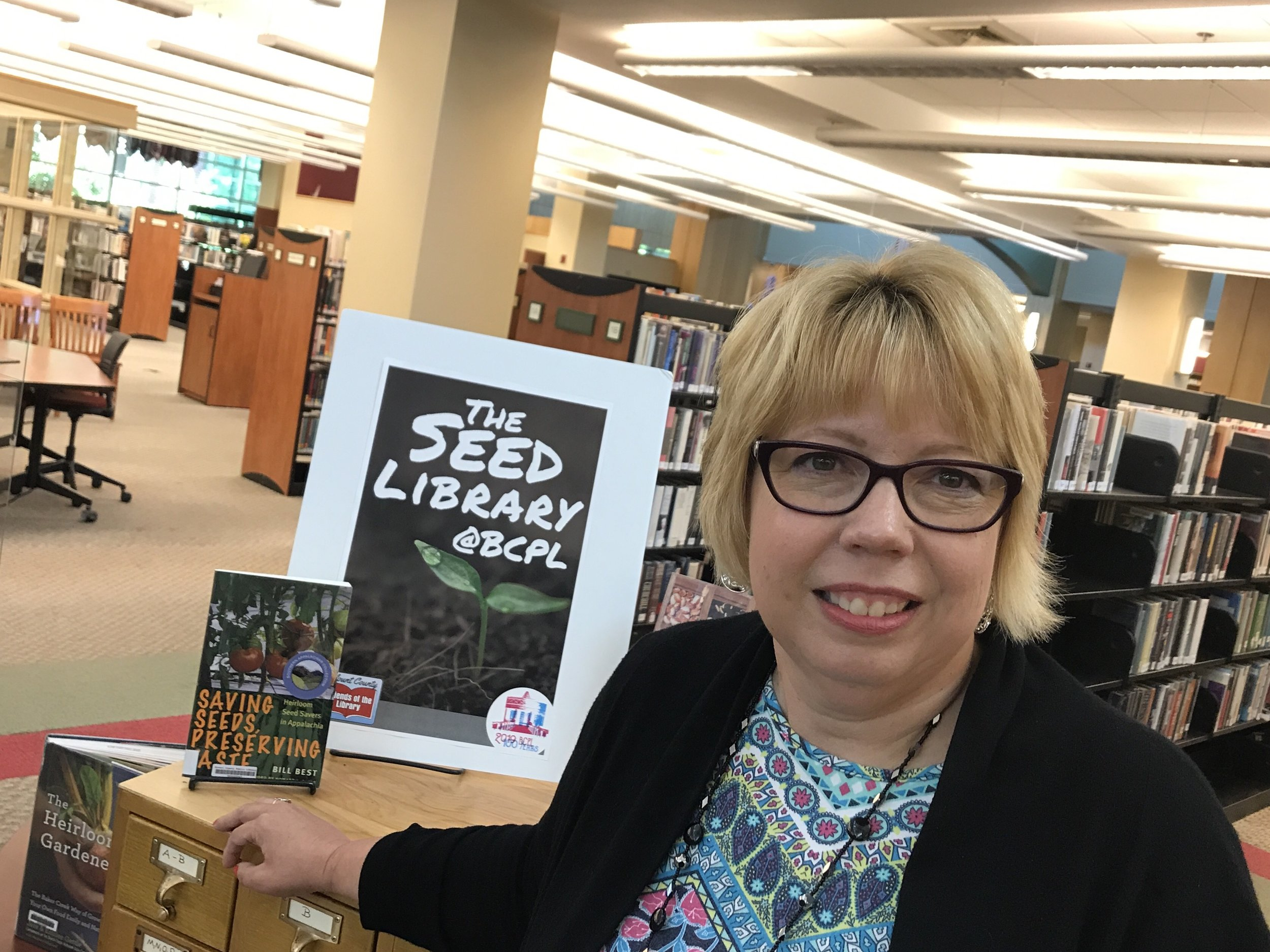 Sheila Pennycuff of the Blount County Public Library Seed Library:  https://www.blounttn.org/1464/Seed-Library
