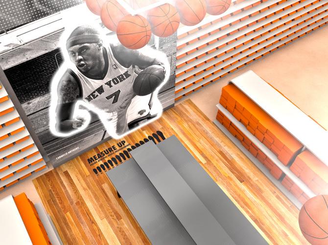 Nike Woodbury 3D model overhead angle