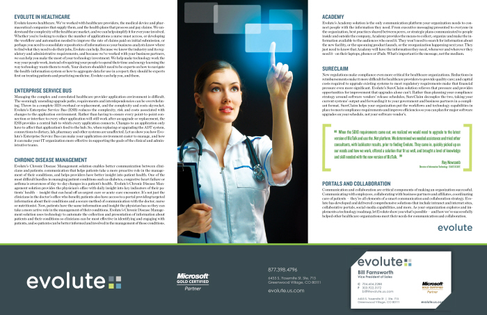 Work performed at Ivey; developing a new logo, brochure, card and basically the whole look of the evolute brand.