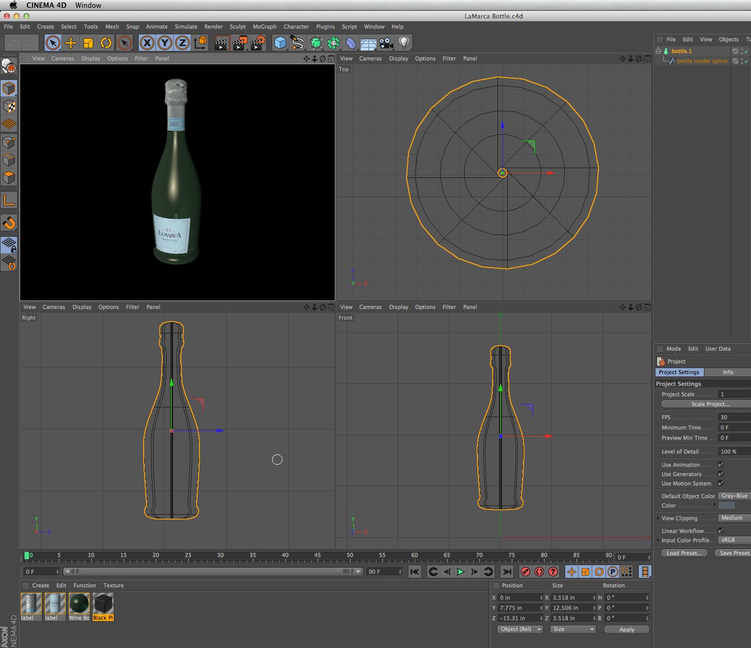 LaMarca Display 3D Model — J  Groschopf Design