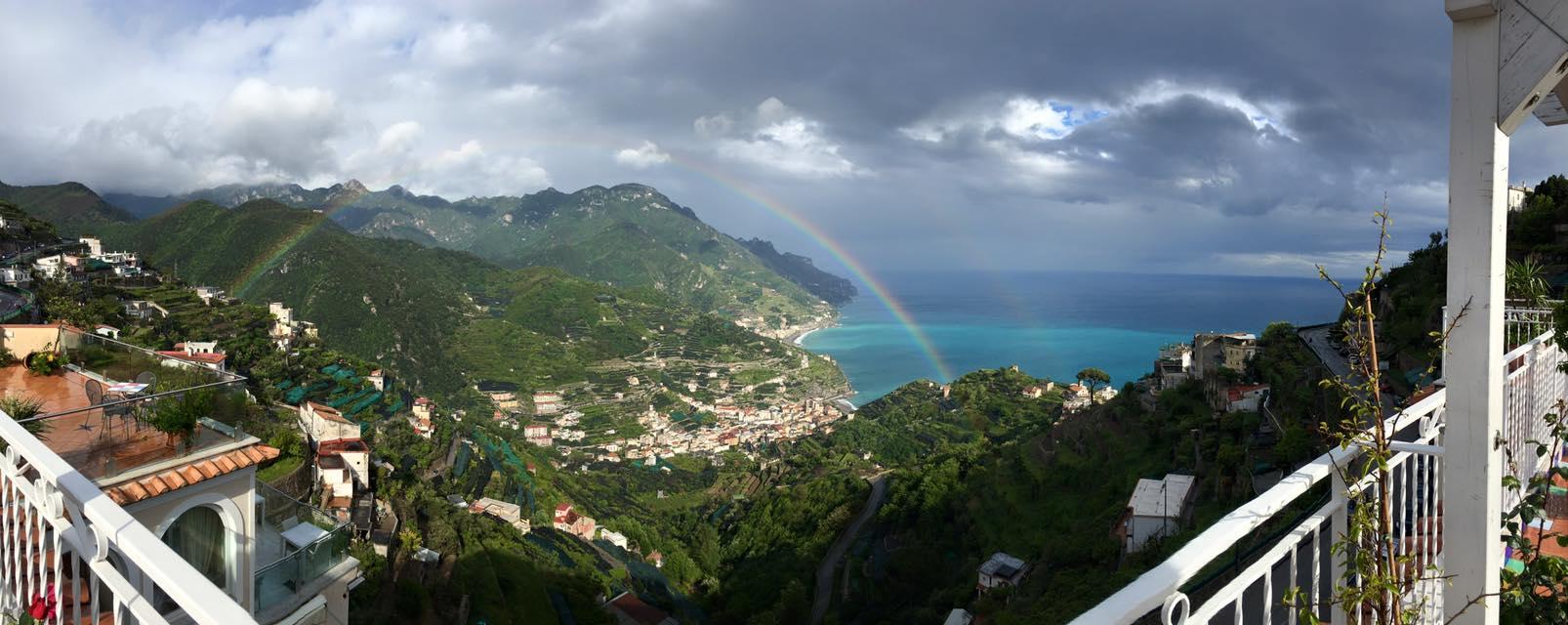 View from Ristorante Bella Vista sul Mare - Ravello