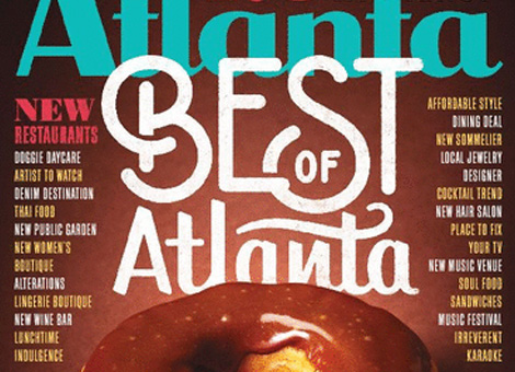 M & HH feature in Atlanta Magazine featuring Anisa's project from HTGV  Design Wars .