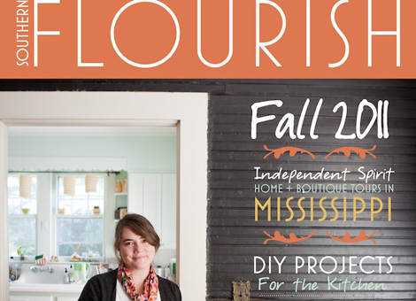 Anisa & Julie featured in Southern Flourish Magazine fall 2011