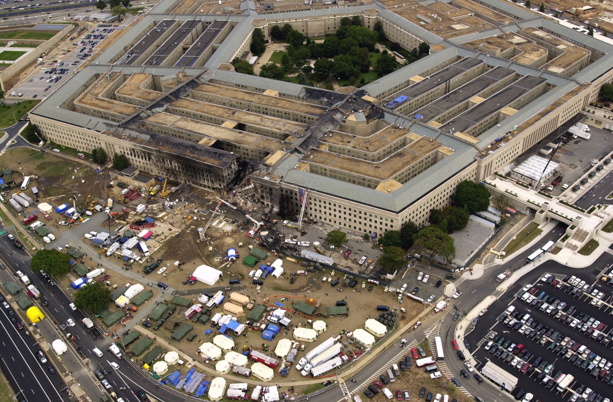 I landed in DC on September 10, 2001...and spent the next day in a Pentagon blood bank.