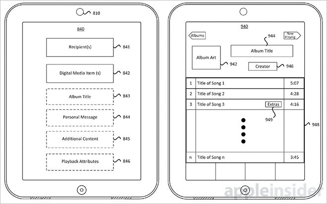 "Schematic from  Apple patent for ""Digital Mixed Tapes"""