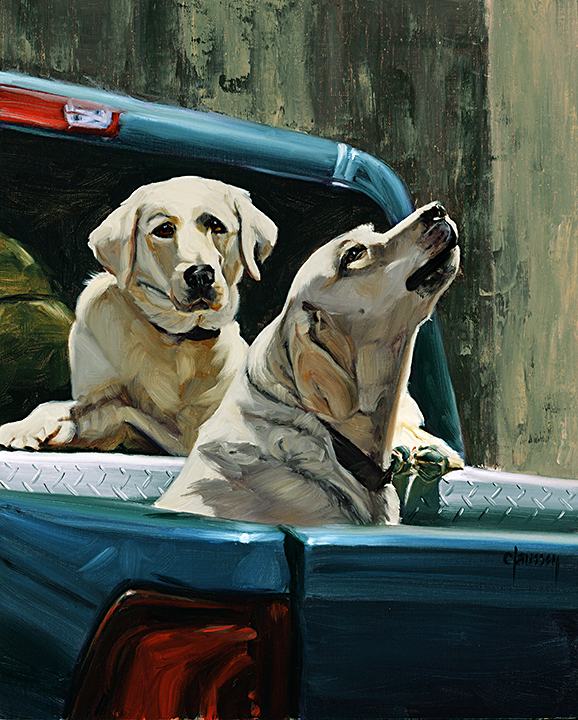 Claussen_Two Labs in a Truck_web.jpg