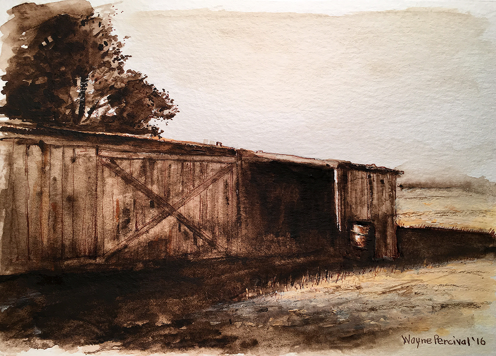 Percival_My grandfathers barn in Manteca_pen and ink_web.jpg