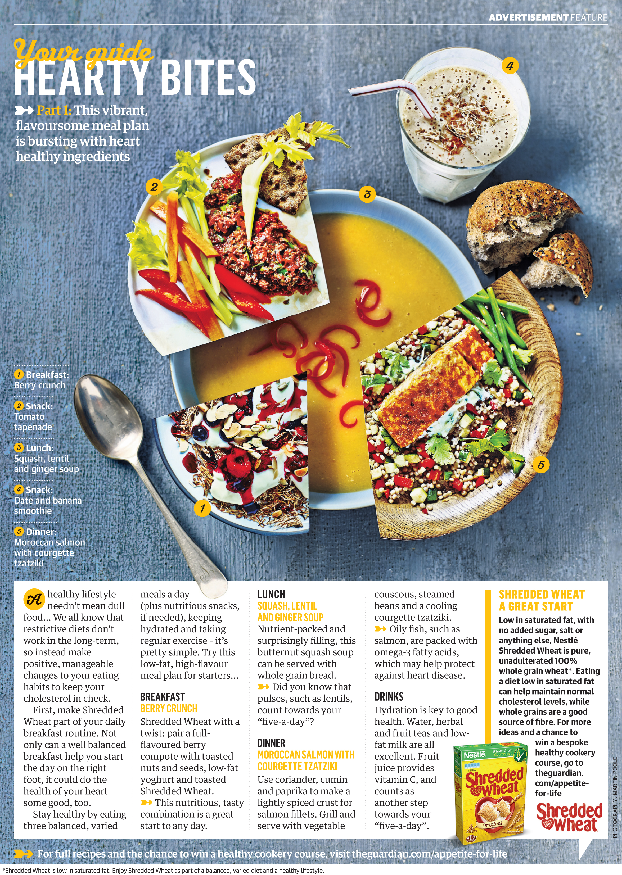 Finished advertorial in Guardian Cook supplement, Feb 2014.
