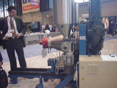 1-rotor CONEX-extruder at 380mm rotor dia size