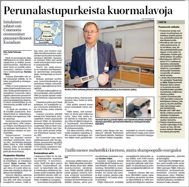 Etelä-Suomen Sanomat 15.09.2007