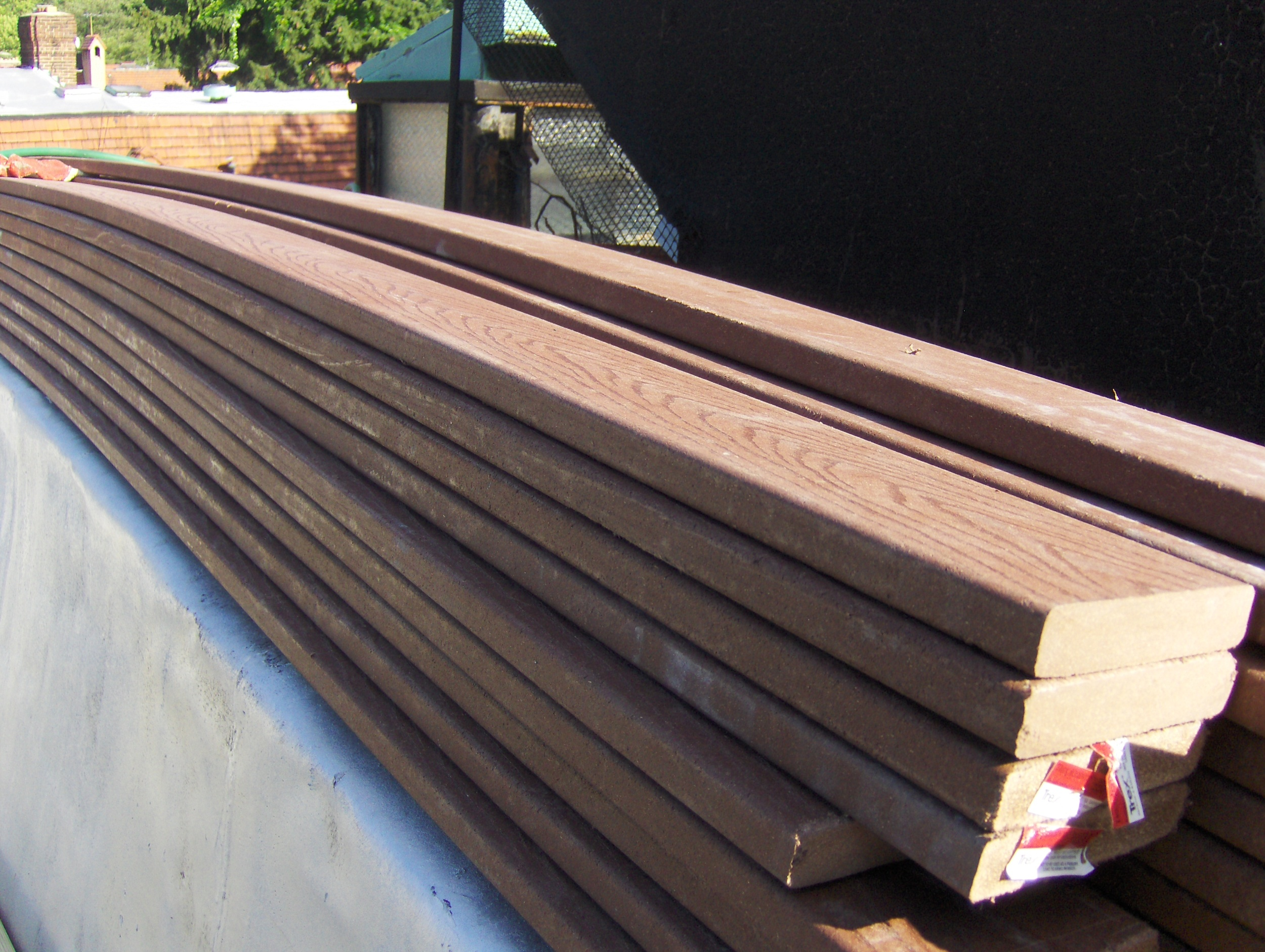 Single layer WPC-decking boards