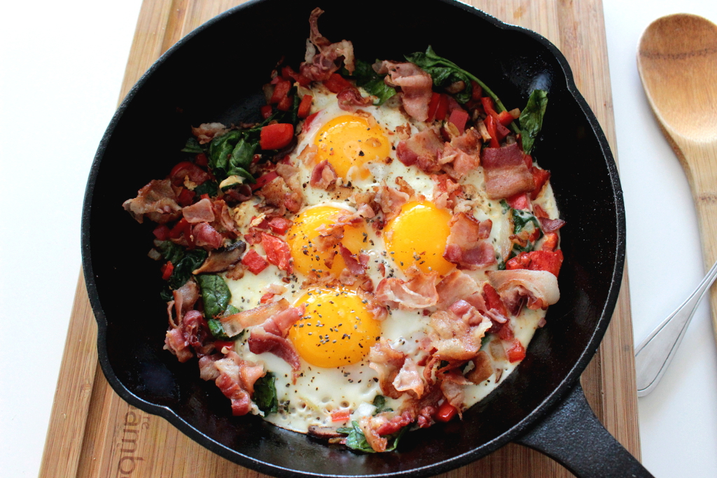 rustic bacon and eggs