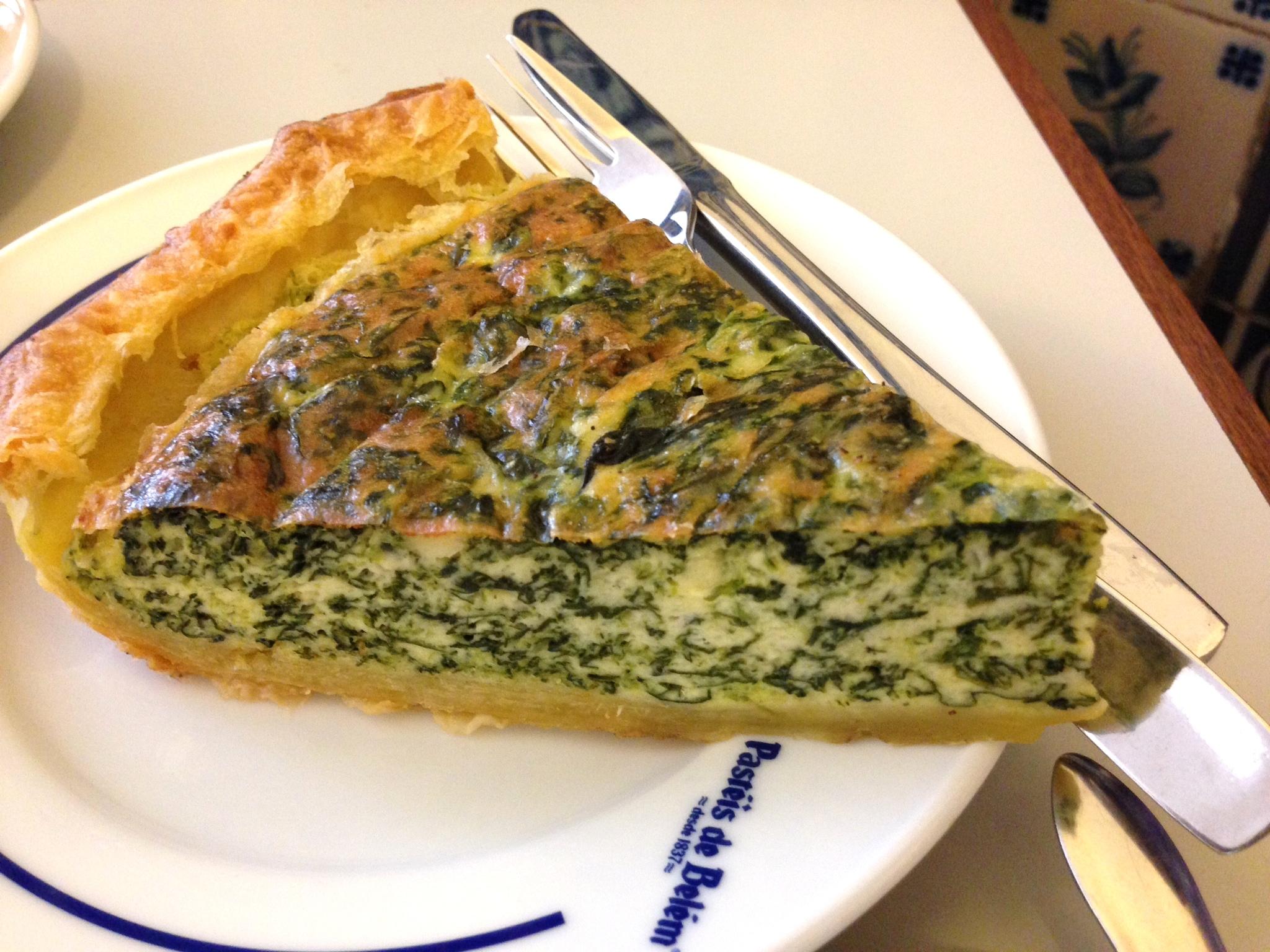 spinach quiche pasteis de belem