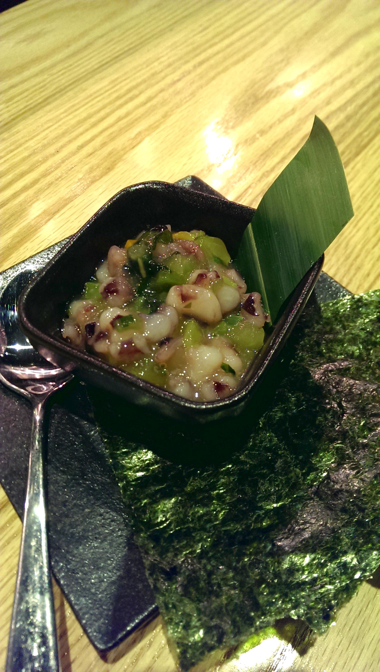 Takowasabi (marinated octopus w. wasabi)