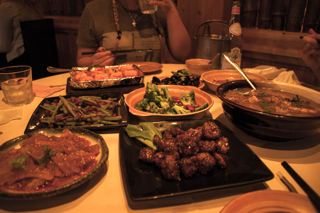 Sichuan dinner near the French Concession area