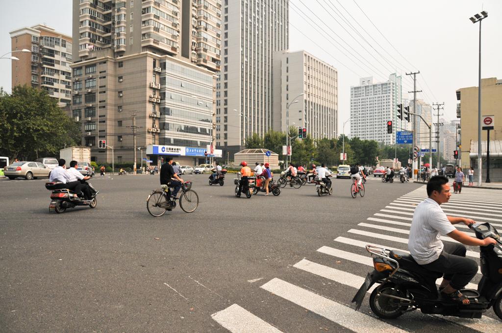 Bikers running red lights