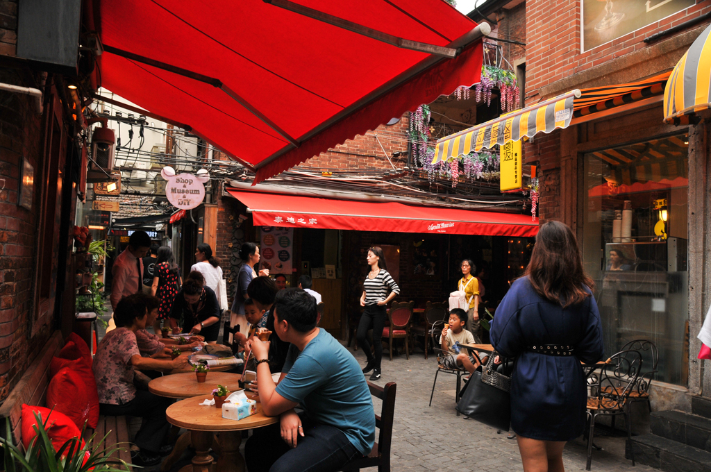 Tianzefang - a gem near the French Concession with small crafts stores, coffee shops, trendy art studios, narrow alley ways and Shikumen architecture