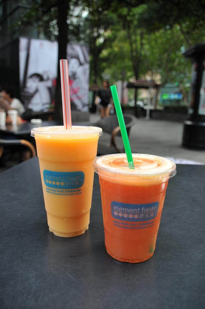 Juice break at Element Fresh in Xintiandi