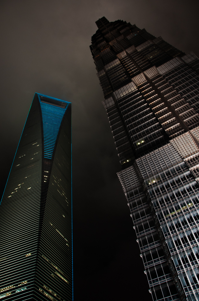 Shanghai World Financial Center and Jin Mao Tower