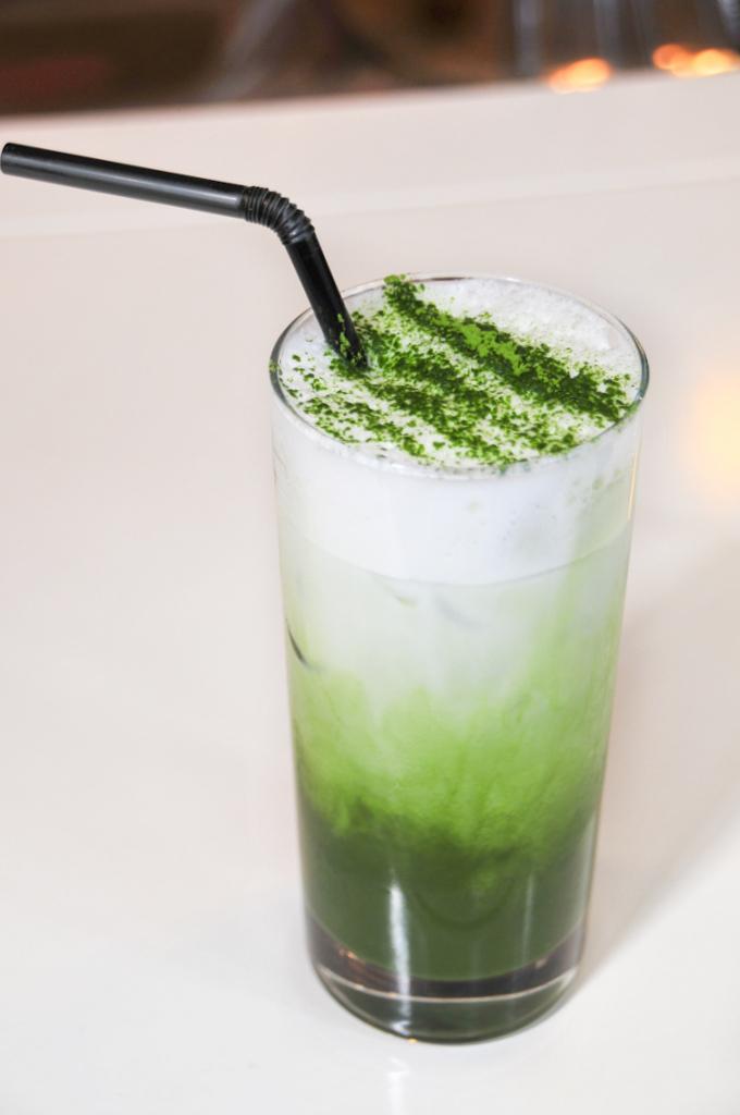 sinmei tea iced matcha latte