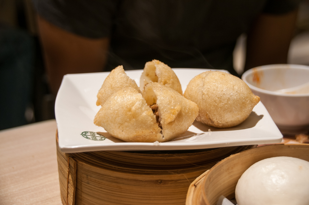Deep fried dumplings with meat