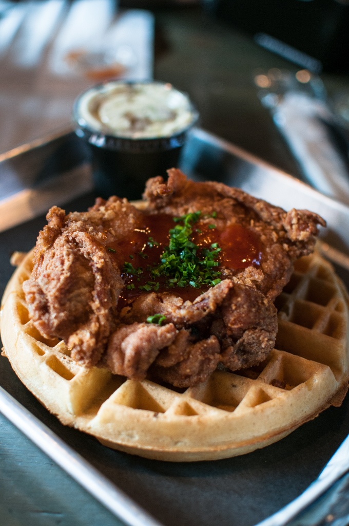 The Dirty Bird ODB Chicken and Waffles