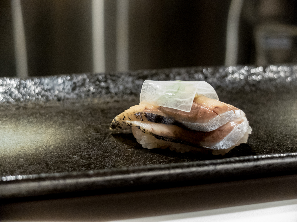Mackerel with pickled daikon
