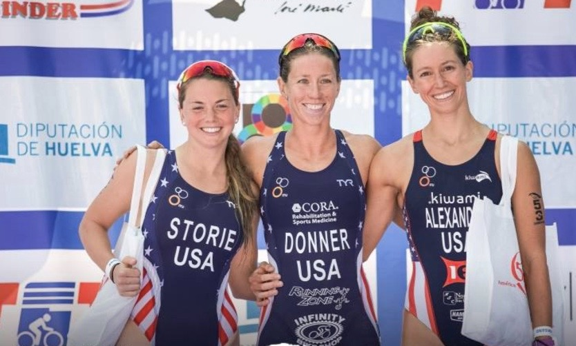 Sarah earned the bronze medal in a USA podium sweep at  CAMTRI Havana